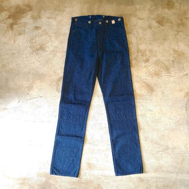 """【送料無料】OOE YOFUKUTEN & Co.Double and Twist Blue Denim Work Pants""""DOUBLE KNEE""""デニム"""