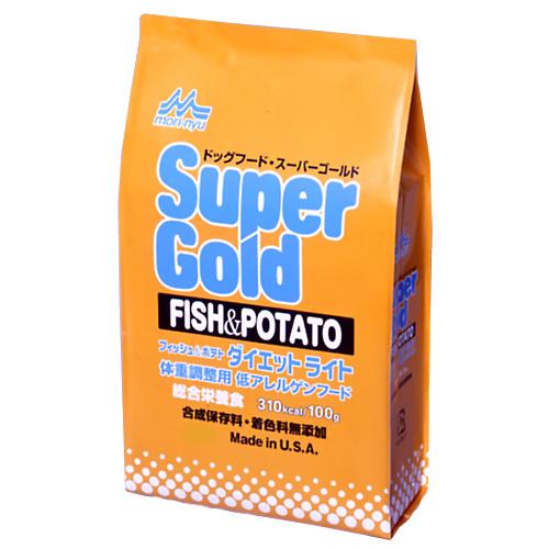 【森乳サンワールド】 スーパーゴールド ダイエットライト フィッシュ&ポテト 7.5kg:ペットランドピースワン店