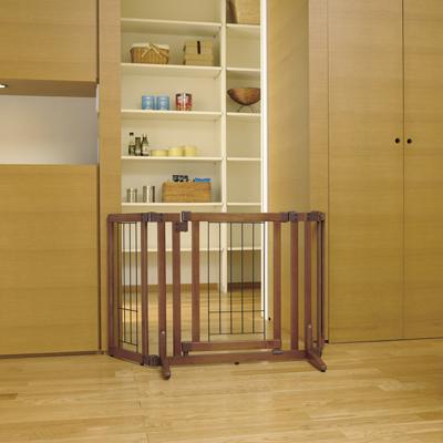 【リッチェル】 ペット用 木製おくだけドア付ゲート S