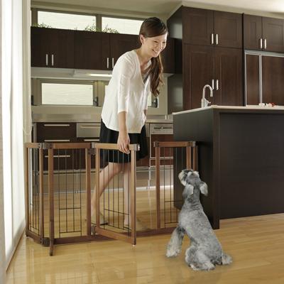 【リッチェル】 ペット用 木製おくだけドア付ゲート M