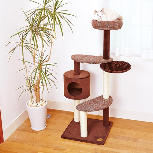 店頭受取対応商品 アドメイト 猫のおあそびポールチェック 推奨 ハイタイプ 猫 キャットタワー ポール ハウス 新商品 新作多数