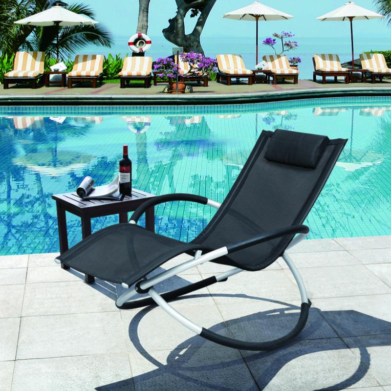 リングロッキングチェア チェア ブラック オレンジ カーキ イス 椅子 折りたたみ コンパクト いす ビーチ テラス 庭 リビング リラックス