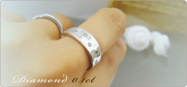 【限定サンプルセール★】ダイヤモンド K18WGリング サイズ12号