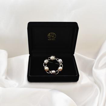 シルバー アコヤ真珠 ブローチ 8mm akoya パールブローチ ペンダント プレゼント 入学式 卒業式 結婚式
