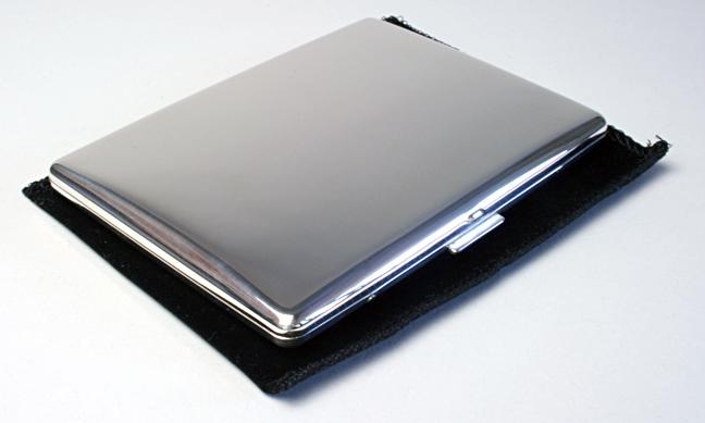 PEARL 925スターリングシルバー コスモスシガレットケース 日本製 1-04295-61