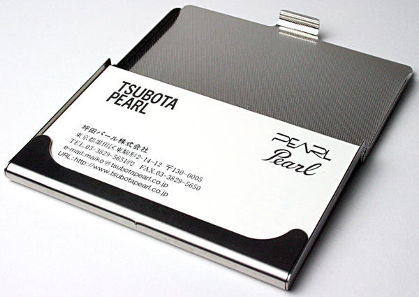 Tsubota Pearl Online Store Pearl S Satin Card Put Business Card