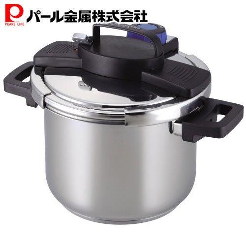 圧力鍋 5.5L IH対応 開店記念セール 5☆好評 3層底 パール金属 ワンタッチレバー H-5389