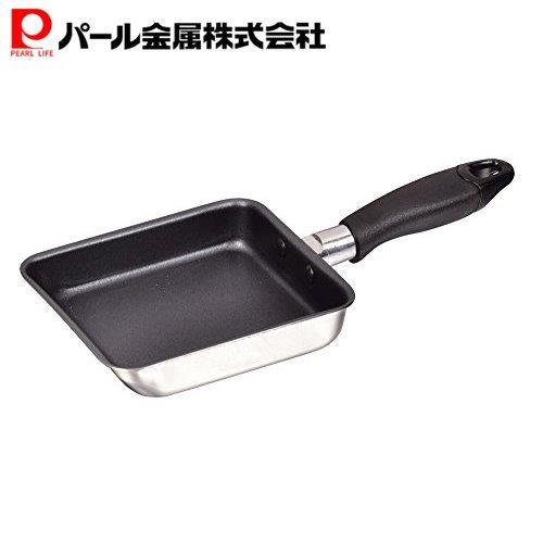 ミニ 卵焼き フライパン 12×14cm IH対応 期間限定特価品 玉子焼き器 ご予約品 フッ素加工 HB-2190 2層鋼 コンパクト パール金属