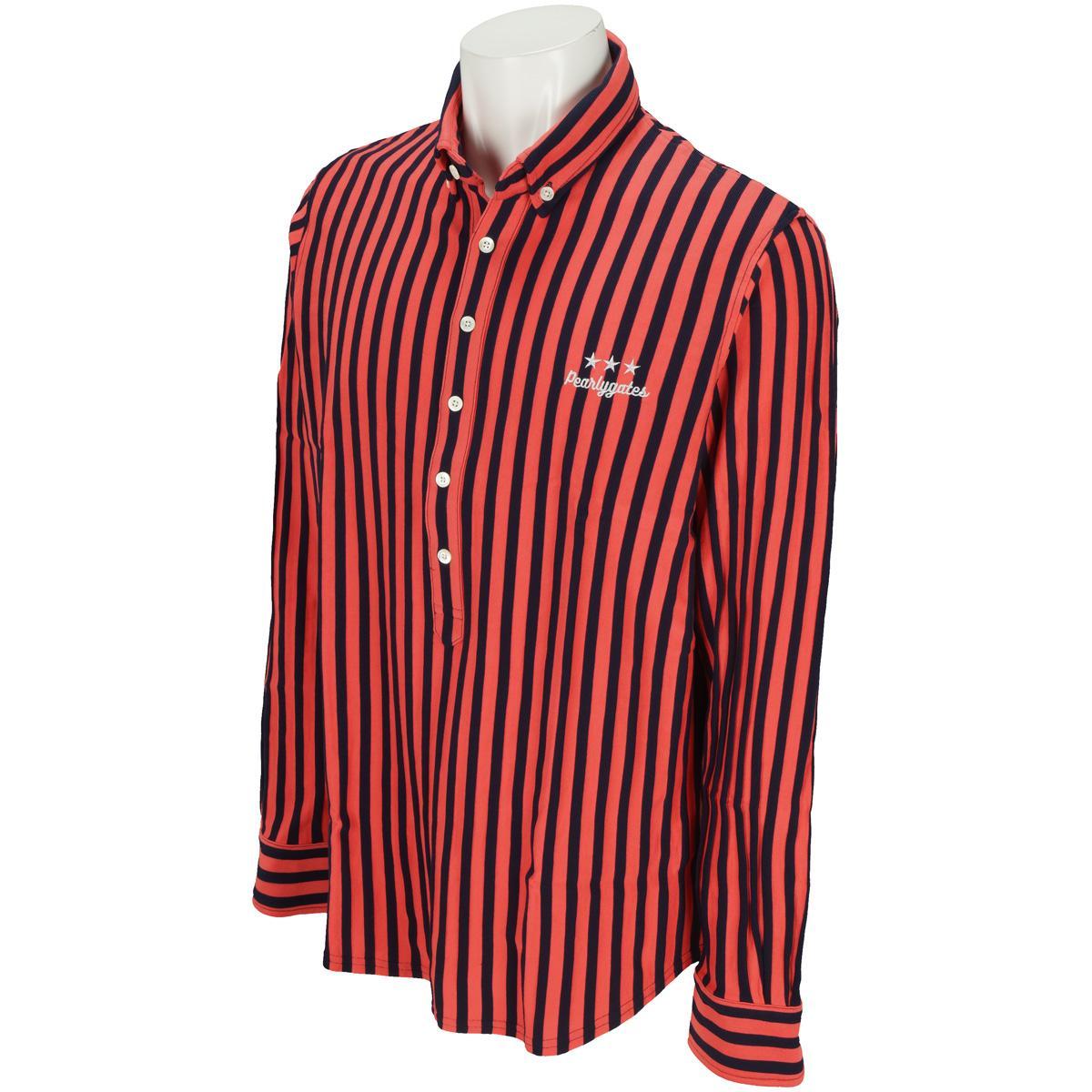 パーリーゲイツ PEARLY GATES リンクスボーダー ストライプ使い長袖ポロシャツ[ゴルフ ウェア メンズウェア シャツ ポロシャツ]
