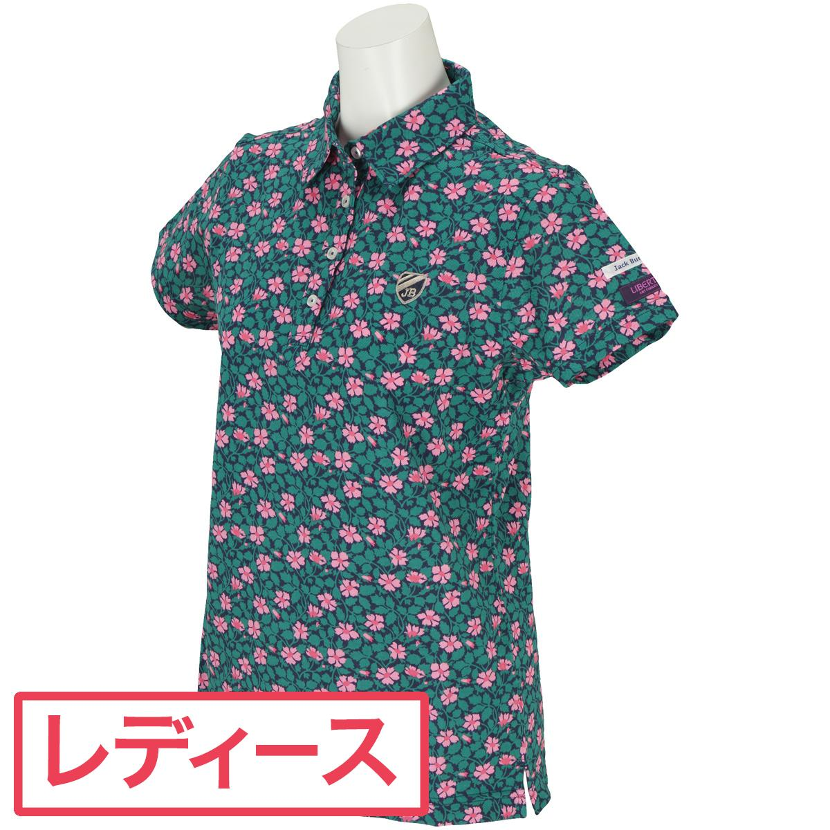 ジャックバニー Jack Bunny!! 鹿の子 LIBERTY 半袖ポロシャツ レディス