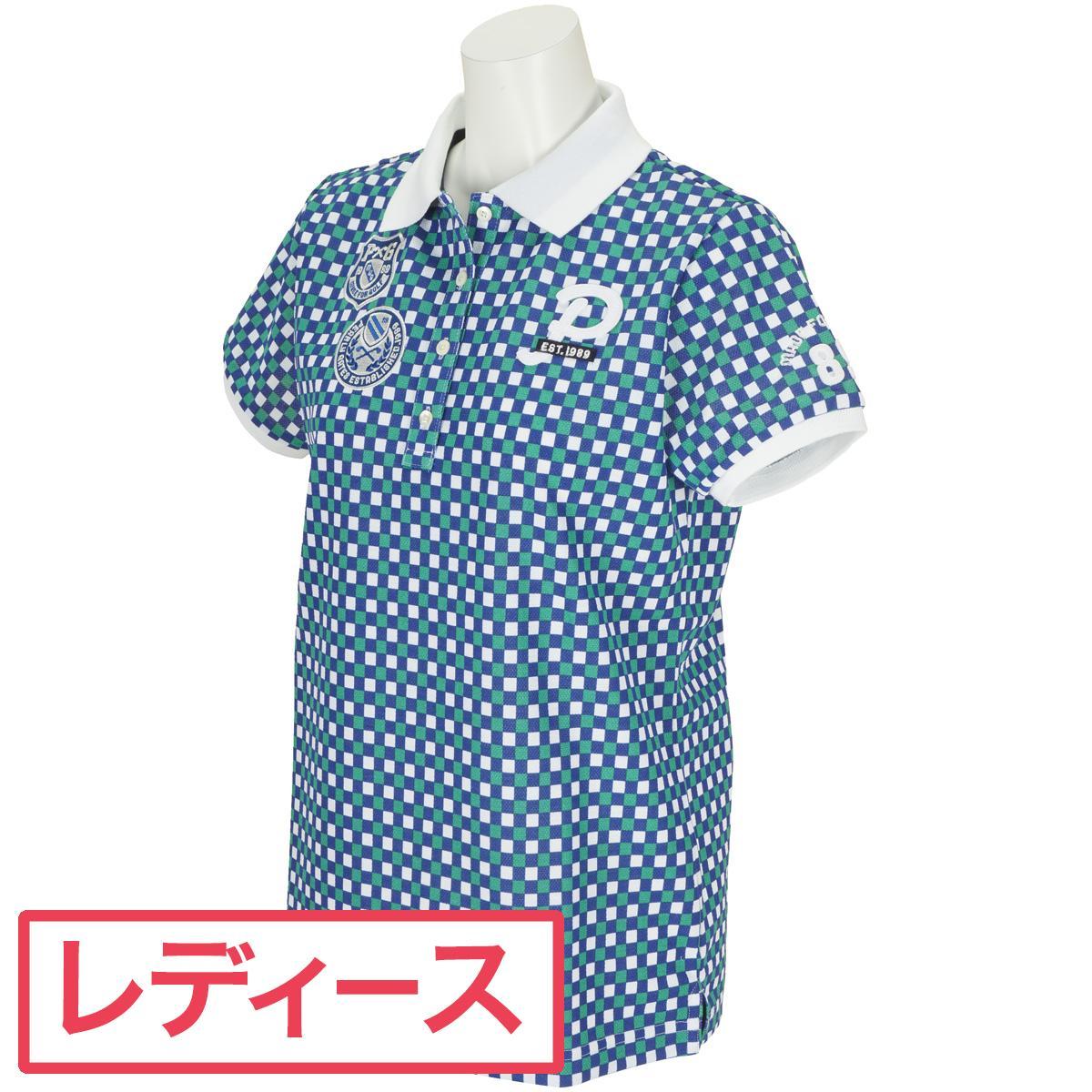 パーリーゲイツ PEARLY GATES 鹿の子チェック柄半袖ポロシャツ レディス