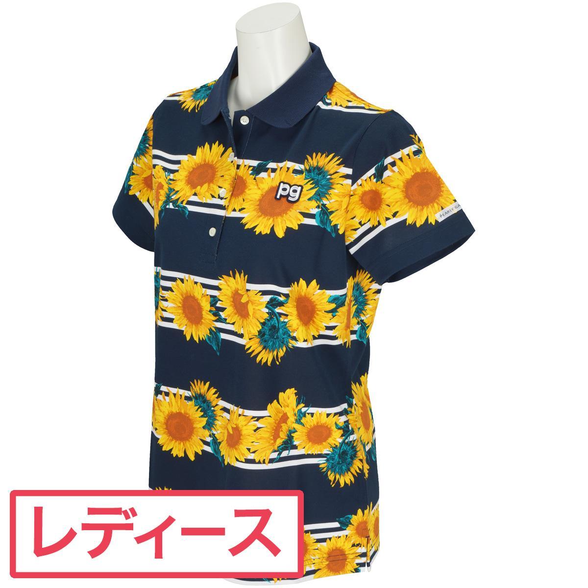 パーリーゲイツ PEARLY GATES スペースマスター プレーティング 半袖ポロシャツ ゴルフウェア レディース