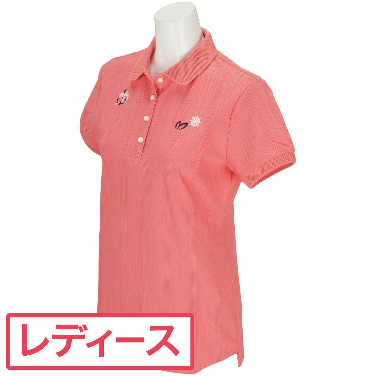 マスターバニーエディション MASTER BUNNY EDITION ハニカムストライプ 半袖ポロシャツ レディス