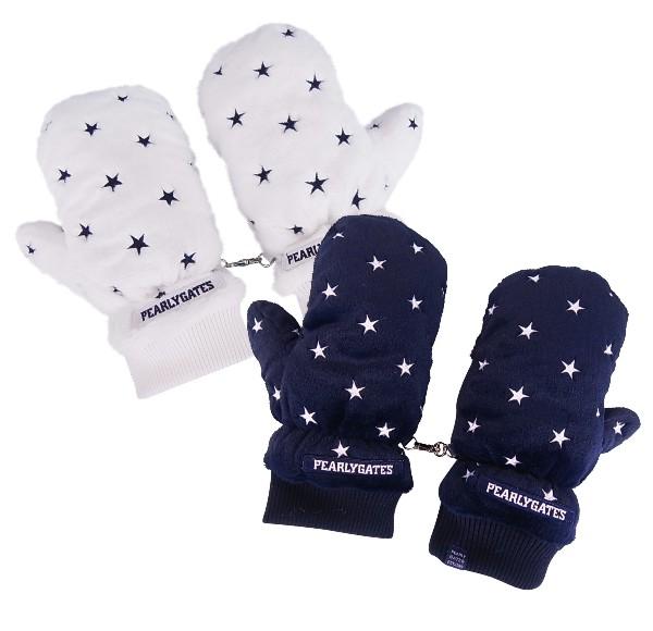 【NEW】PEARLY GATES SNOW STAR SERIESパーリーゲイツ・スノースター☆彡レディースフェイクファーミトン防寒グローブ両手用8283101/18D【SNOW】