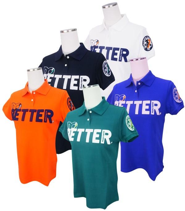 【NEW】PEARLY GATES パーリーゲイツレディース DO BETTER!コットンカノコ 半袖ポロシャツ =JAPAN MADE=8260902/18C
