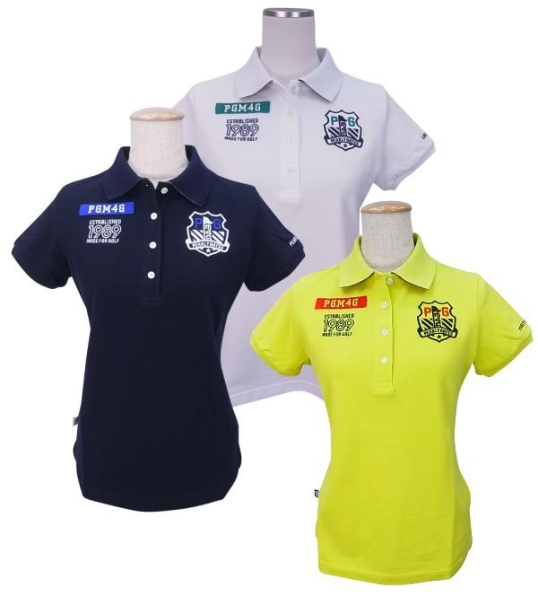 【NEW】PEARLY GATES パーリーゲイツレディースPGM4Gエンブレムワッペン カノコ半袖ポロシャツ =JAPAN MADE= 9160102/19A