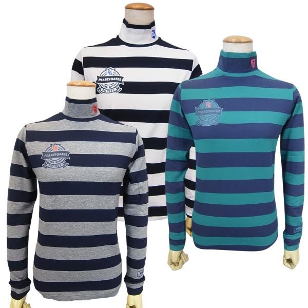 【NEW】PEARLY GATES パーリーゲイツベア天竺バイカラーボーダー レディースハイネックモックシャツ =JAPAN MADE= 9266804/19C