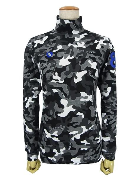 【NEW】【SMILY-BLACK CAMO】PERLYGATES パーリーゲイツ ブラックカモフラベア天竺レディースハイネックモックシャツ=JAPAN MADE= 055-0166122/20A【BLACKCAMO】