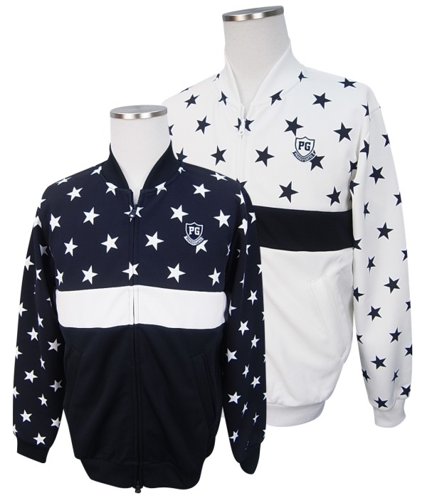 【NEW】PEARLY GATES SNOW STAR SERIESパーリーゲイツ・スノースター☆彡 メンズTCダンボールフルジップジャケット =JAPAN MADE=8262121/18D【SNOW】