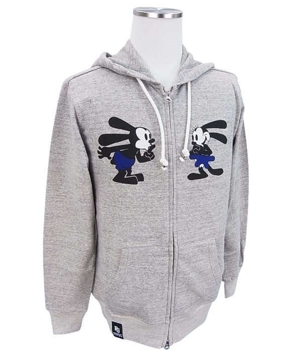 【NEW】PEARLY GATES パーリーゲイツOSWALD THE LUCKY RABBIT×PEARLY GATESオズワルド 裏毛フルジップメンズパーカー=JAPAN MADE= 8162301/18A