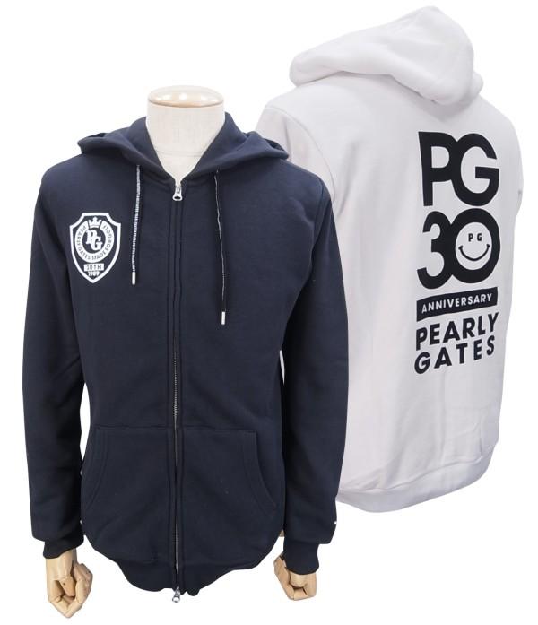 【NEW】PEARLY GATES パーリーゲイツ【30周年記念限定モデル】メンズ 吊風裏毛フルジップパーカー=JAPAN MADE= 9162203/19AF【30TH】