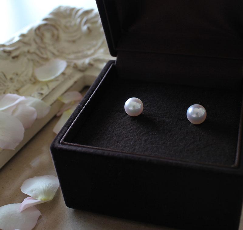 アコヤ真珠 akoya 福袋 パールピアス ブレス K18/K14WG 8-8.5mm 4-4.5mm パールチャーム 真珠クロス