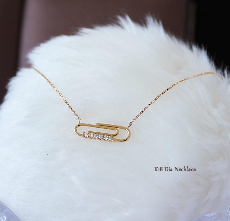 K18 DIA ネックレスクリップ ダイア necklace D0.06ct 6pcs