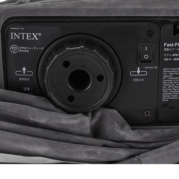 【GWもあす楽】 【訳あり】 90日保証 インテックス Intex エアーベッド 電動 ダブル フルコンフォートプラッシュ DURA-BEAM PLUS ミッドライズ エアベッド 67767
