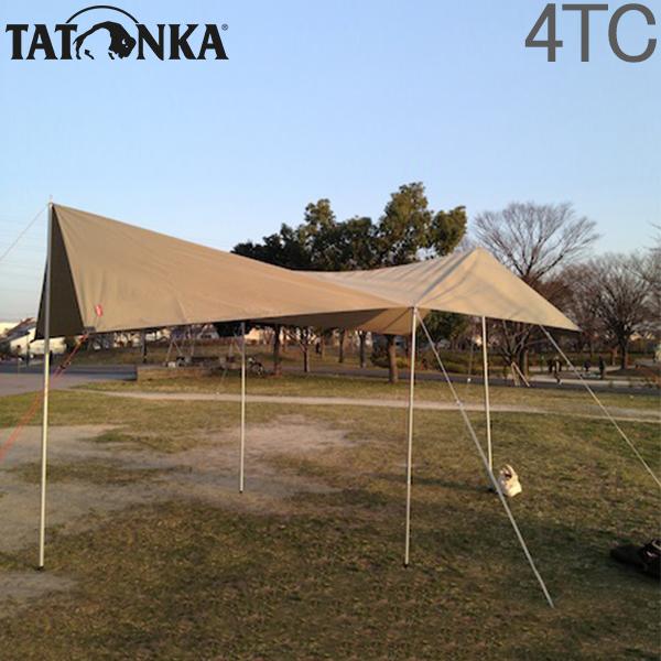 タトンカ Tatonka タープ Tarp 4 TC (285×400cm) ポリコットン製 防水 遮光 2463 コクーン Cocoon (208) キャンプ テント アウトドア バーベキュー [4,999円以上送料無料]
