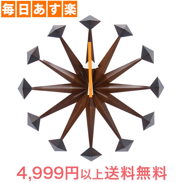 Vitra ヴィトラ Wall Clocks ウォール クロック 壁掛け 時計 Polygon Clock Walnut ウォールナット 201 618 01 [4999円以上送料無料]