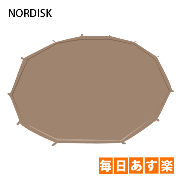 NORDISK ノルディスク アルヘイム12.6用フロアシート(ジップインフロア) ナチュラル 146012 テント キャンプ アウトドア 北欧 [4999円以上送料無料]