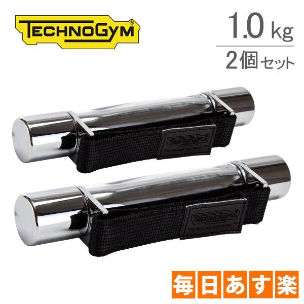 テクノジム Techno Gym ハンドダンベル(1.0kg×2個セット) ウェルネスウェイト A0000153AA シルバー WellnessTools Weight Stainless おしゃれ スタイリッシュ [4999円以上送料無料]