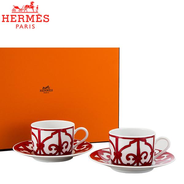 まとめ買いクーポン配布中 Hermes エルメス ガダルキヴィール Tea cup and saucer ティーカップ&ソーサー 160ml 011016P 2個セット [4999円以上送料無料] あす楽