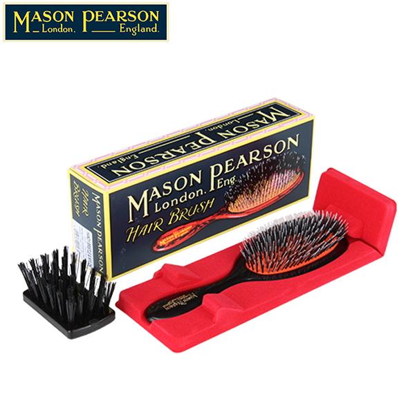 【GWもあす楽】 最大1000円OFFクーポン メイソンピアソン ブラシ プラスチックバックドヘアーブラシ ハンディーミックス ダークルビー 猪毛 ブラシ 英国 ハンドメイドブラシ 最高峰 BN3 Mason Pearson Plastic Backed Hairbrushes Handy Bristle & Nylon Dark Ruby あす楽