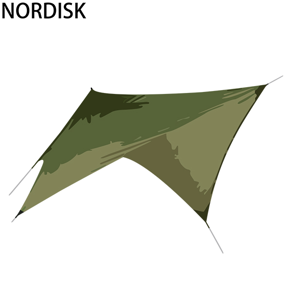まとめ買いクーポン配布中 ノルディスク NORDISK タープ ヴォス ダイヤモンド PU 127009 ダスティーグリーン Voss Diamond Dusty Green incl. guy-ropes キャンプ テント 雨よけ 日よけ [4999円以上送料無料] あす楽