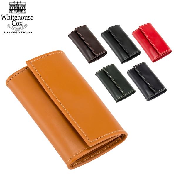 まとめ買いクーポン配布中 ホワイトハウスコックス Whitehouse Cox キーケース ブライドルレザー キーホルダー S5794 Keycase Solid Colour メンズ レディース キーリング あす楽