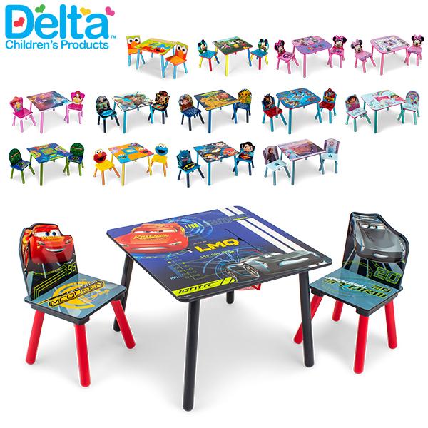 【GWもあす楽】 最大1000円OFFクーポン デルタ デルタ Delta テーブル & チェア 2脚 セット Table & Chair Set 子供部屋 キッズ 机 イス 木製 椅子 家具 インテリア