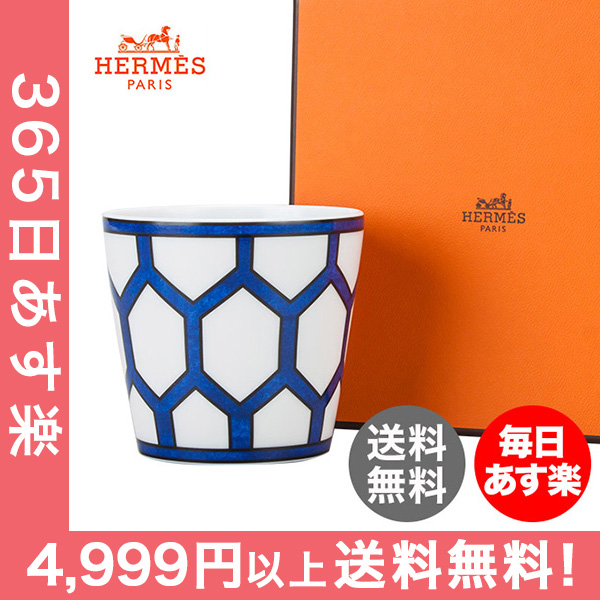 エルメス Hermes ブルーダイユール キャンドルタンブラー キャンドルカップ 130059P ホワイト / ブルー Bleu d'Ailleurs White/Blue キャンドル インテリア [4999円以上送料無料] 新生活
