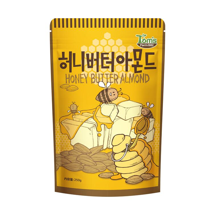 甘いはちみつとバターの香りがベストマッチ SALE開催中 ビール お酒などのおつまみにもどうぞ ハニーバターアーモンド 250g 正規輸入品 送料無料 日本産 ギリム ハニーバター ハニーアーモンド 韓国 韓国で人気のお菓子 HBAF ハニーバターアーモンドシリーズ アーモンド アクレア