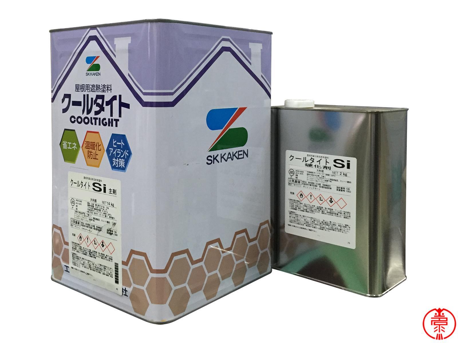 クールタイトシリーズは 汚れに強いので遮熱性能長持ち クールタイトSi 標準色 送料無料 屋根用遮熱塗料 エスケー化研 16Kgセット 上等 国内在庫