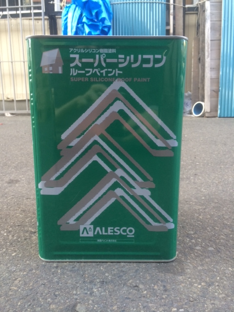 【送料無料】スーパーシリコンルーフペイント 常備色 Xグループ 14L シリコン樹脂屋根用塗料 関西ペイント