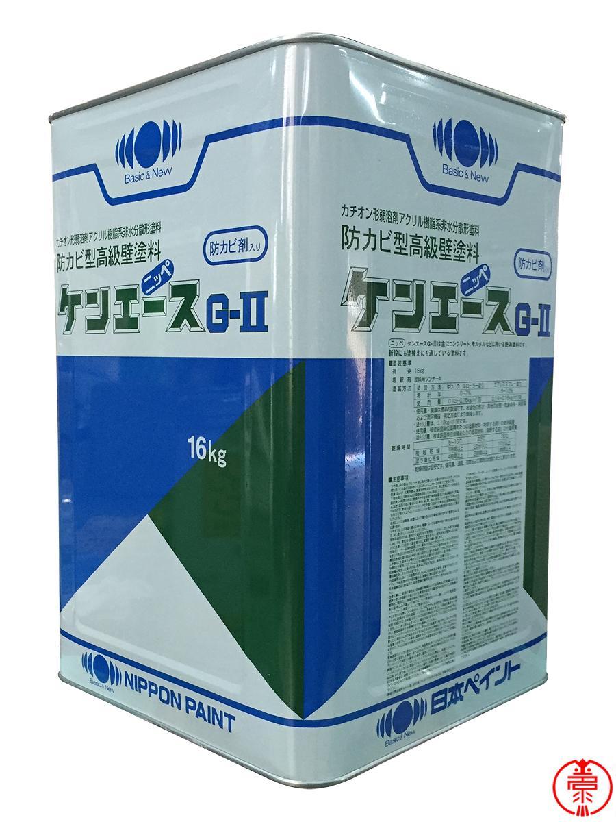 【送料無料】 ケンエースG2 つや消し 黄色/エコロエロー 16kg 日本ペイント 内・外部用塗料 ヤニ・シミ止め塗料