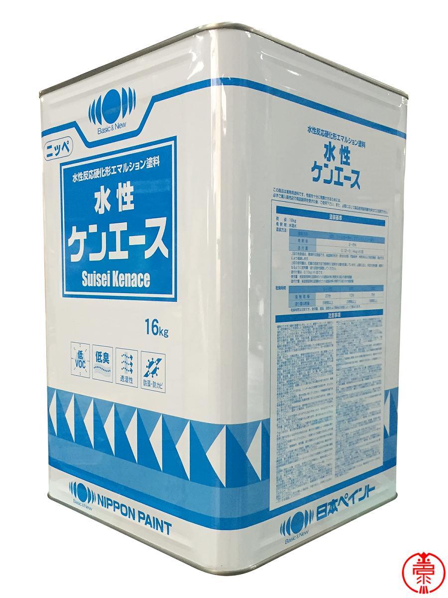 ヤニ しみ止め効果 低VOC 軒下塗装に 新色追加して再販 限定特価 水性ケンエース 白 16kg 高機能水性塗料 日本ペイント 期間限定お試し価格