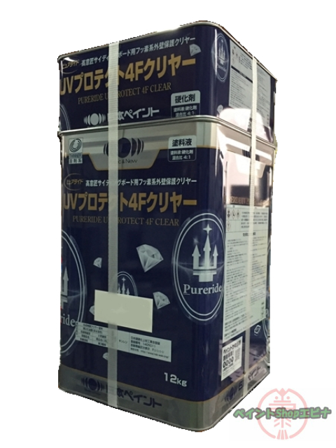 【送料無料】ピュアライドUVプロテクト 4Fクリヤー つや有 15kgセット(約57平米 塗装可能)日本ペイント