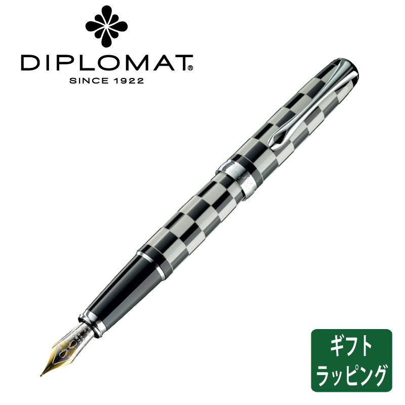 【正規販売店】ディプロマット DIPLOMAT 万年筆 エクセレンス エー ローマ ブラック ホワイト 筆記具