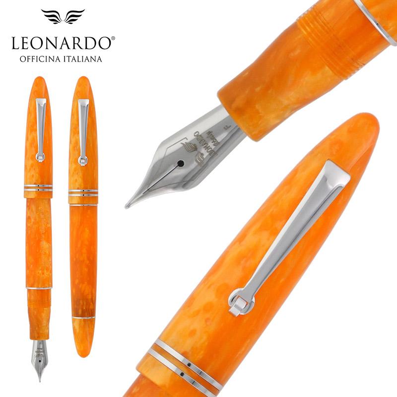 【正規販売店】レオナルド・オフィチーナ・イタリアーナ 万年筆 フローレ オレンジ
