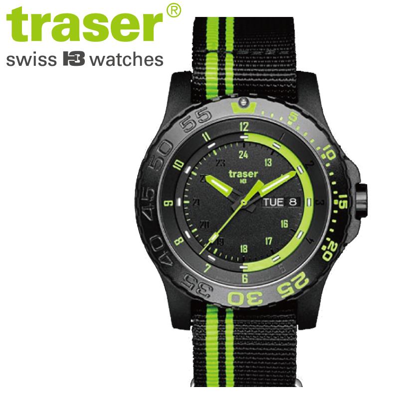 79ab52f075 ミリタリーウォッチ 送料無料 あす楽 ギフト プレゼント 【正規販売】Traser トレーサー TYPE6 MIL-G Green Spirit  メンズ クオーツ 腕時計