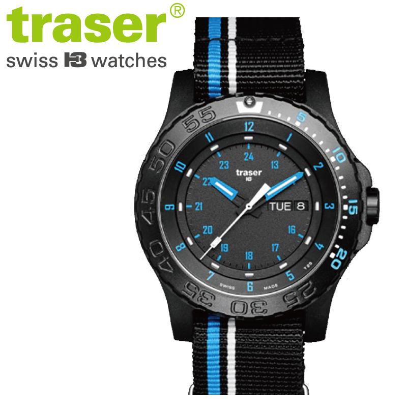 【正規販売】Traser トレーサー TYPE6 MIL-G Blue Infinity メンズ クオーツ 腕時計