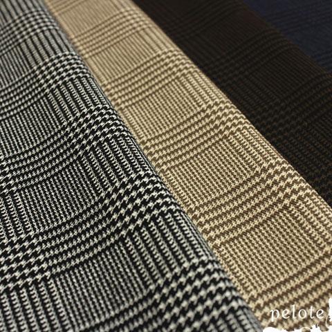 落ち着いた大人カラーで大人気のチェックプリントがコットン100%ツイルで登場 メンズライクな作品にもおすすめ コットンツイル グレンチェックプリント 生地 ハンドメイド NEW 手芸 布 綿100% チェック SALE開催中