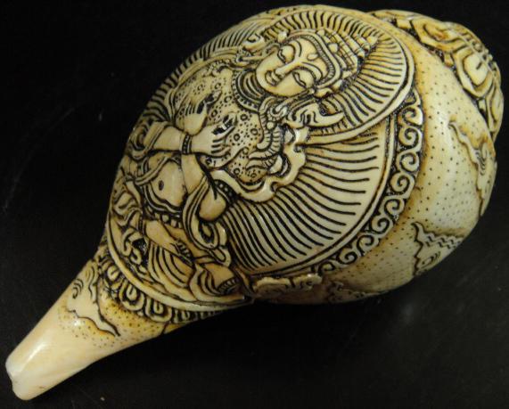 ◆チベット密教法具 法螺貝(シャンカ)持金剛(ヴァジュラ・ダラ)
